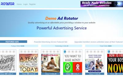 Ready Made AdRotator run your own Home Business sell advertising Hosting