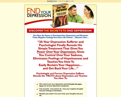 End Your Depression – Hot New Product!