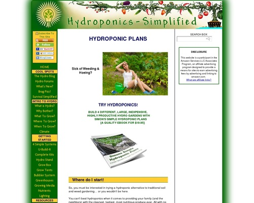 HYDROPONIC PLANS-  DO IT RIGHT THE FIRST TIME