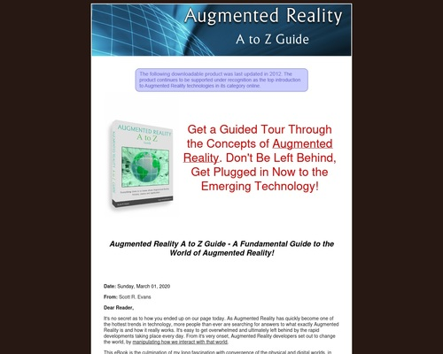 Augmented Reality A to Z Guide