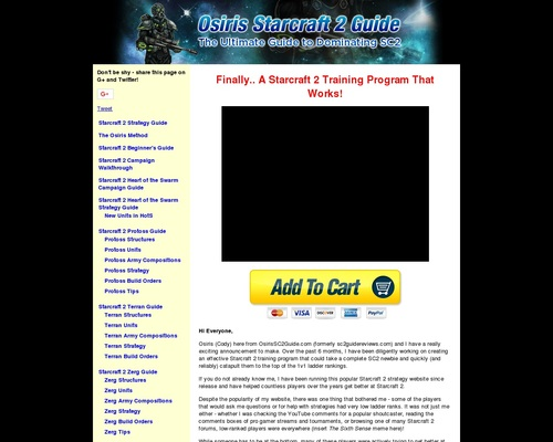 The Osiris Method – Ultimate Starcraft 2 Strategy Guide